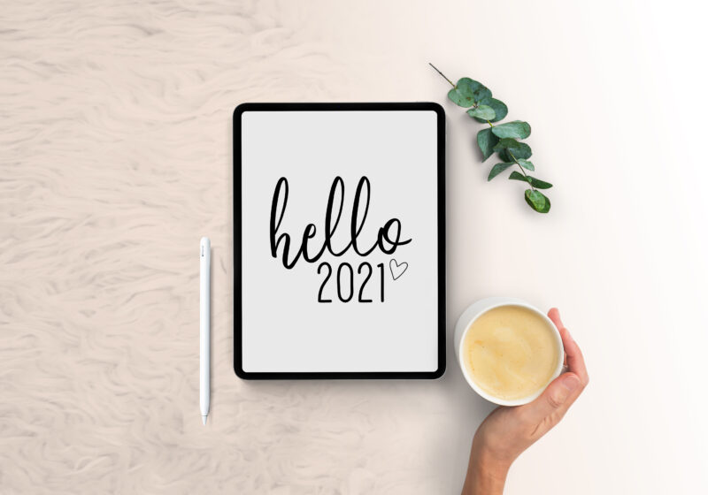 2021 Everything Planner Digital Download (Black and White)