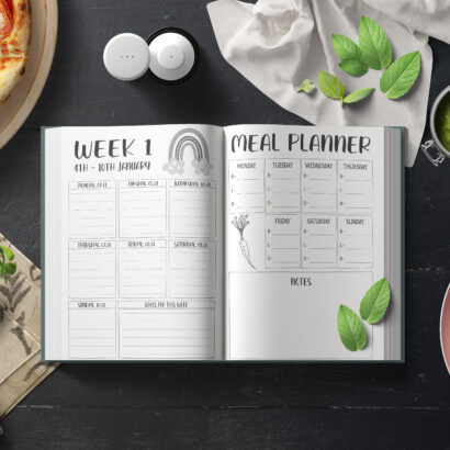 A daily page in The Everything Planner