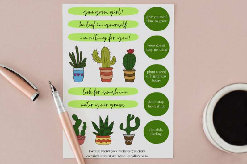 Plant Planner Stickers A5 sheet