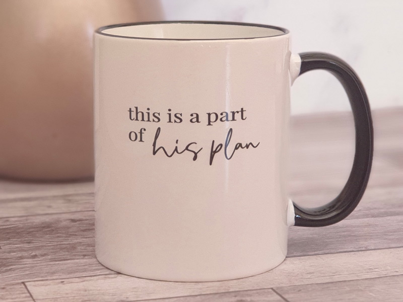 This is a Part of His Plan mug