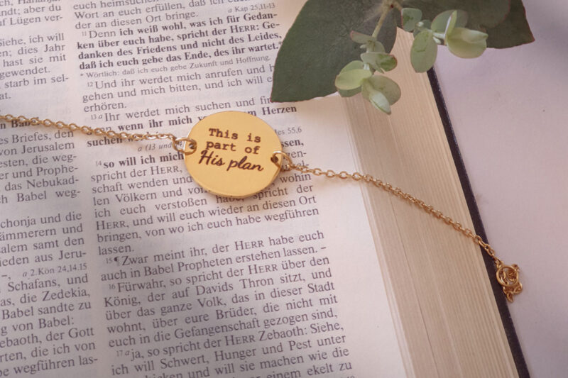This is part of his plan disk bracelet yellow gold