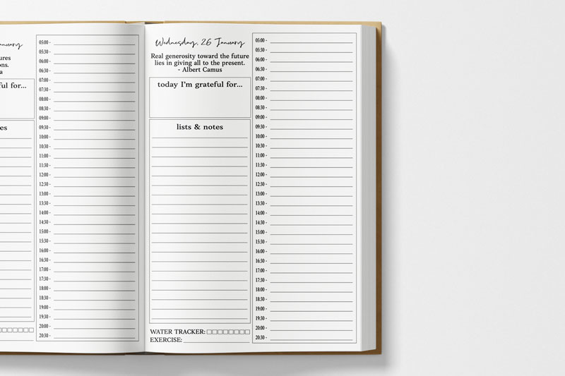 Everything Planner daily page layout