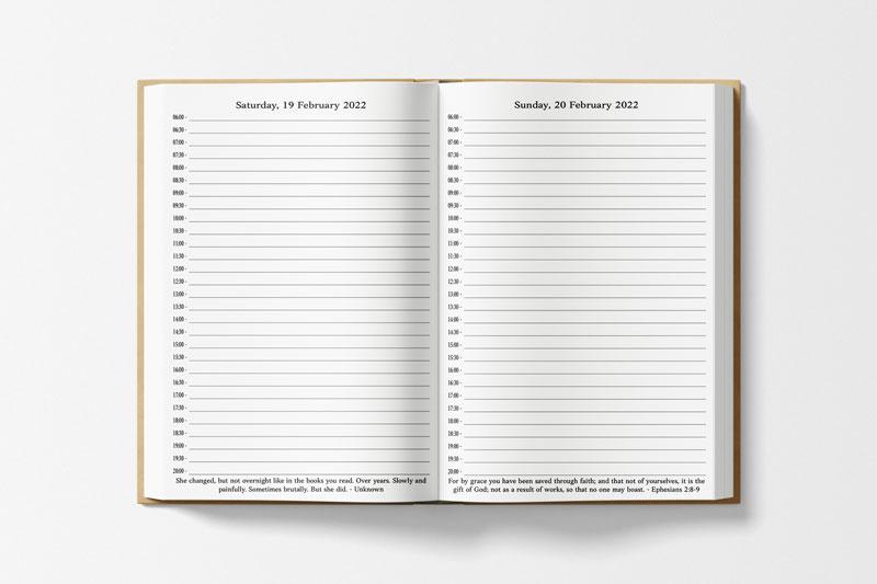 Minimalist Planner Daily Layout