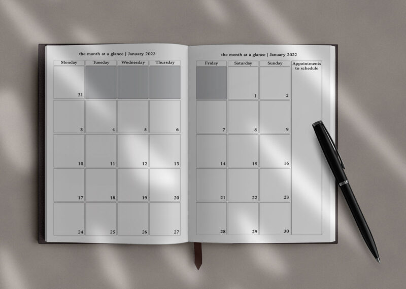 Monthly Overview Everything Planner