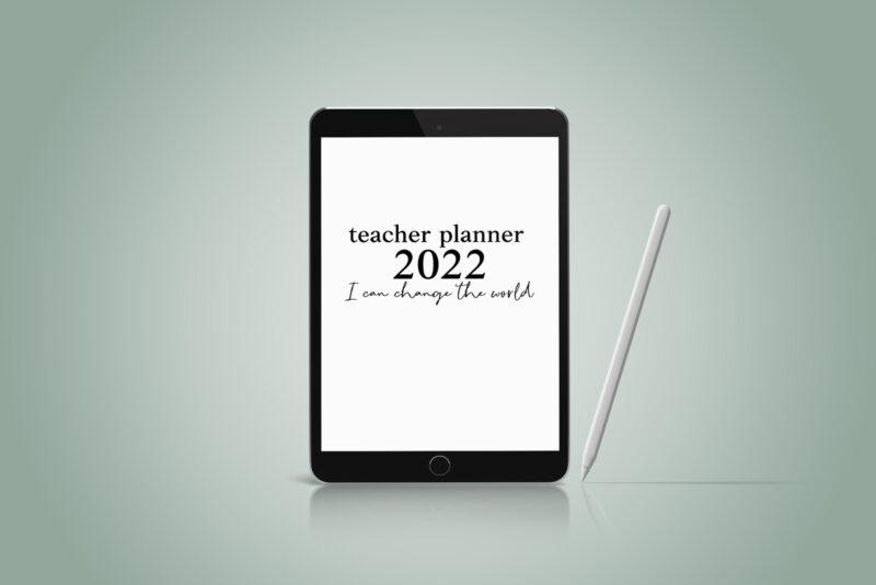 Digital Teacher Planner 7 lessons